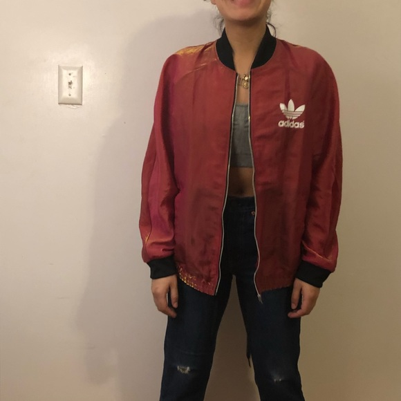 outlet store e07ea 7dc03 Adidas iridescent track jacket. M 5ad756076bf5a65d6d7e086b